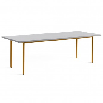TWO COLOUR rectangulaire table - yellow and light grey