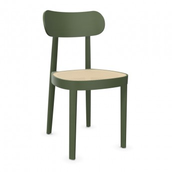 118 chair olive and cane