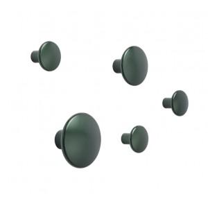Aluminium hooks set DOTS dark green