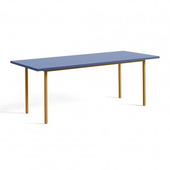 TWO COLOUR rectangular table - yellow and blue