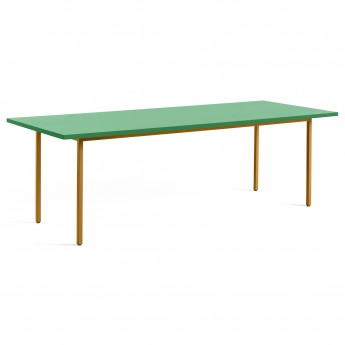 TWO COLOUR rectangular table - yellow and green