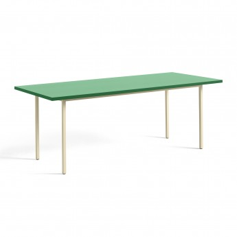 TWO COLOUR rectangular table - ivory and green