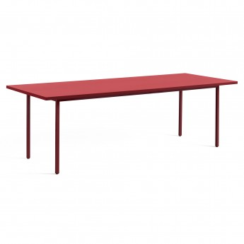 TWO COLOUR rectangular table - red and red
