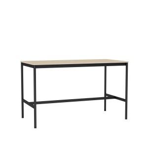 Table BASE HIGH noir/chêne XS