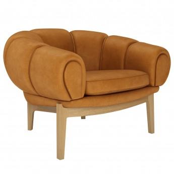 Chaise lounge Croissant - Chêne
