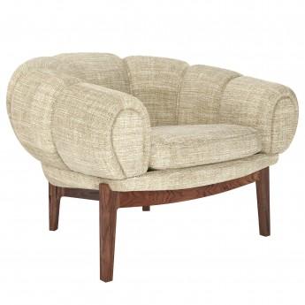 Chaise lounge Croissant - Noyer