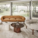 Lounge chair Croissant - Walnut
