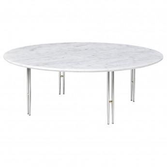 Table basse IOI Ø70 - Pieds chromés