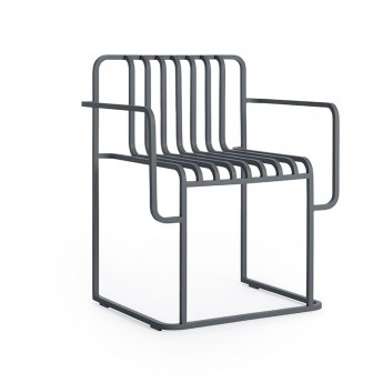 GRILL chair with armrests
