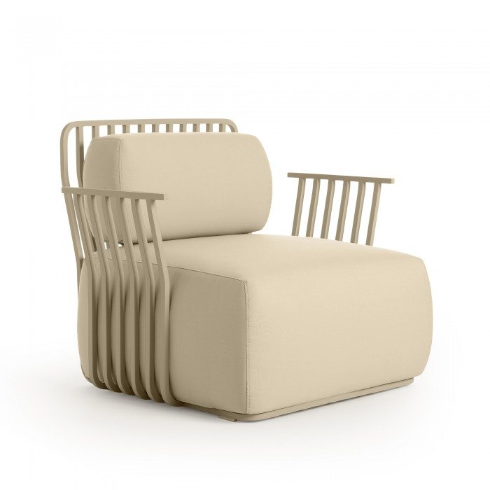 GRILL lounge chair plain with armrests