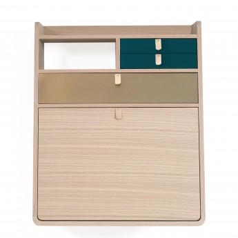 GASTON Wall secretary - 60cm - Brass