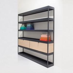 NEW ORDER Vertical open shelf with trays