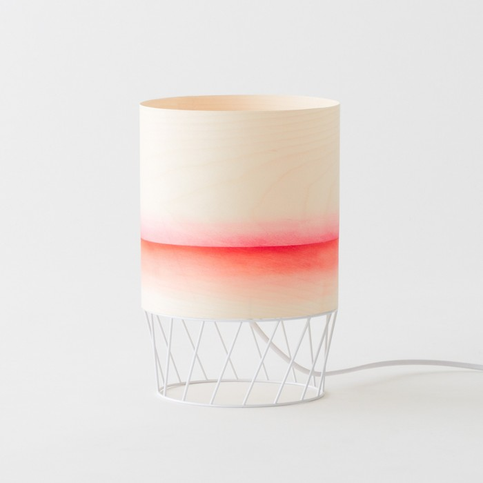 Lampe DOWOOD aquarelle S orange
