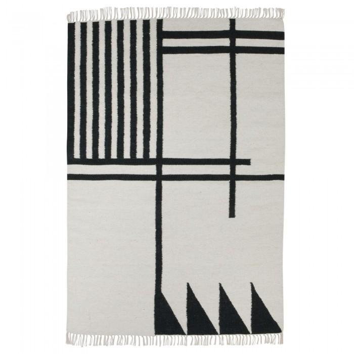 BLACK KELIM carpet