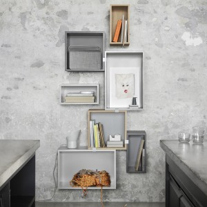 STACKED shelf system close modules