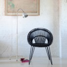 Chaise CURLY noire