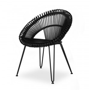 Chaise CURLY noir