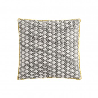 SILAÏ square grey-blue cushion