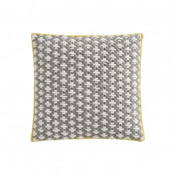 SILAÏ square grey-blue cushion