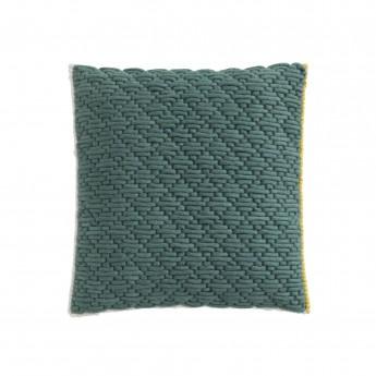 Coussin SILAÏ carré celadon-vert
