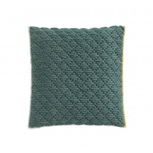 SILAÏ square celadon-green cushion