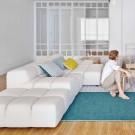 SILAÏ square celadon-green cushion