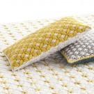 SILAÏ rectangle yellow-white cushion