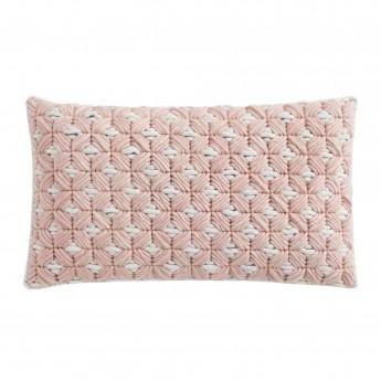 SILAÏ rectangle pink-grey cushion