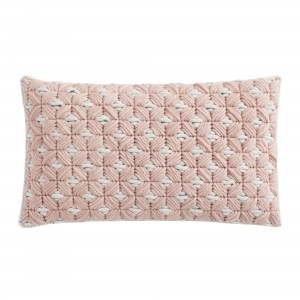 SILAÏ rectangle pink-grey cushion