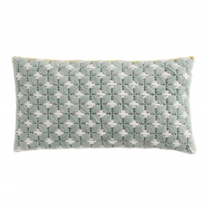 SILAÏ rectangle celadon-grey cushion