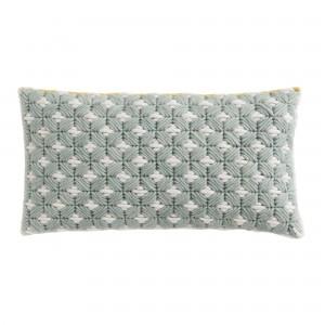 SILAÏ rectangle celadon-grey cushion