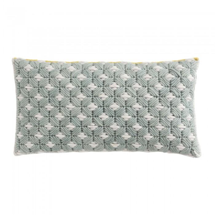 Coussin SILAÏ rectangle celadon-gris