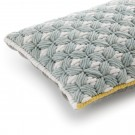Coussin SILAÏ rectangle celadon-gris
