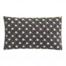SILAÏ rectangle grey-white cushion