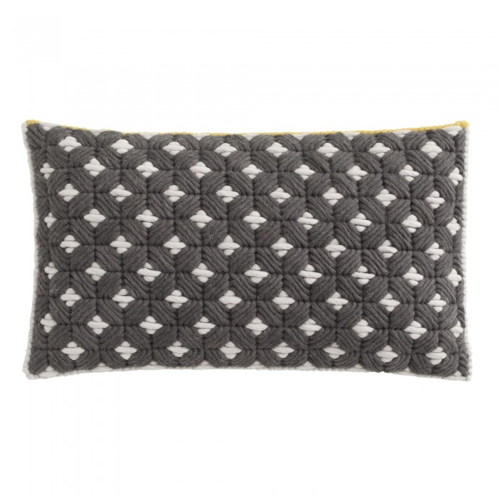 Coussin SILAÏ rectangle gris-blanc