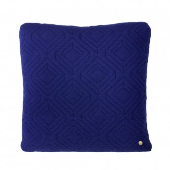 QUILT dark blue Cushion