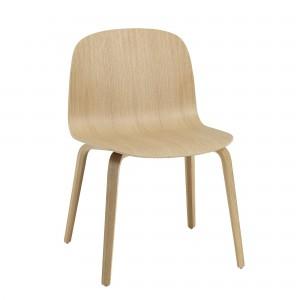 Chaise large VISU - base bois
