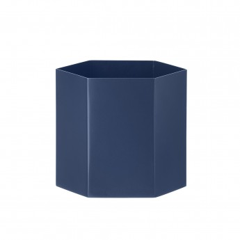 Pot de fleur HEXAGON small bleu