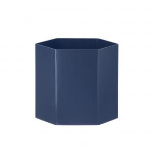 Pot de fleur HEXAGON L bleu