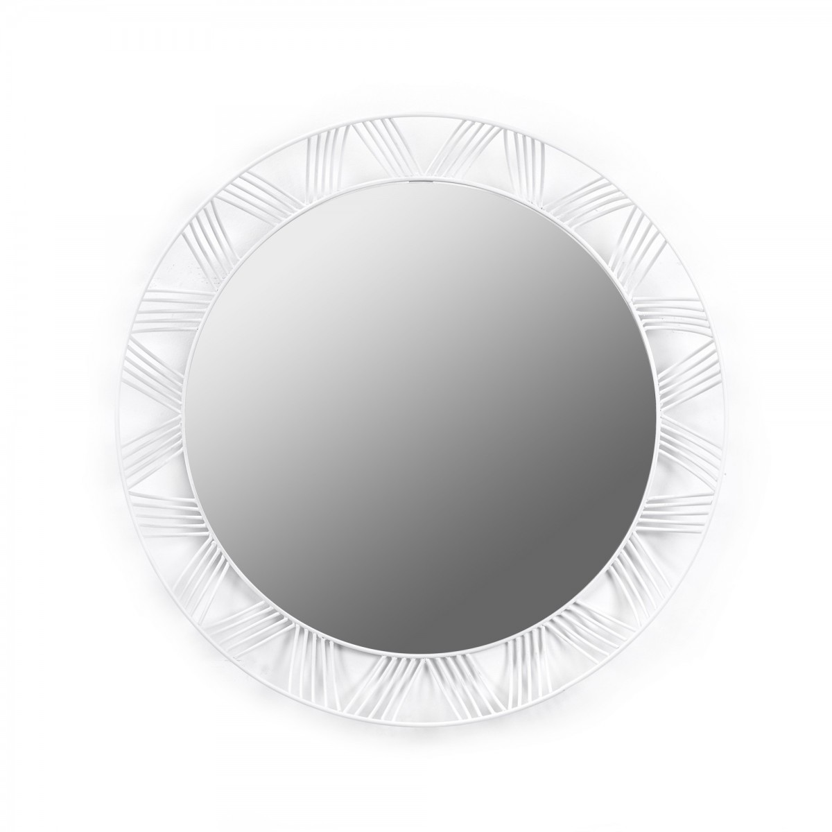 Miroir rond stilk blanc serax for Miroir design rond