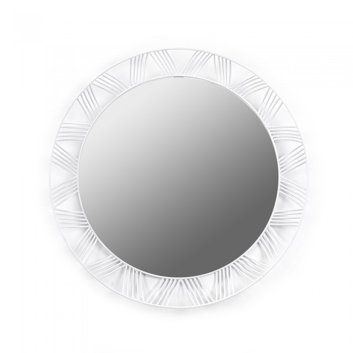 Round mirror STILK white