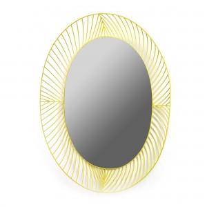 Miroir ovale STILK jaune